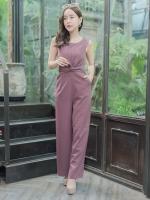 JS0027 เสื้อผ้าแฟชั่น เสื้อผ้าเกาหลี ชุดจั๊มสูท จั๊มสูทขายาว จั๊มสูทกางเกง ชุดออกงาน ชุดทำงาน แขนกุด เสื้อผ้า เสื้อสวย อินเทรนด์ ทันสมัย น่ารัก เกรด A เกรดเอ ชุดจั๊มสูท จั๊มสูทขายาว จั๊มสูทกางเกง (สีนู้ด)