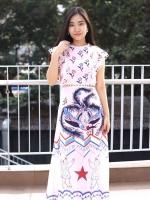 MD0021 เสื้อผ้าแฟชั่นเกาหลี เดรสเกาหลี เดรสยาว เดรสแฟชั่น แม็กซี่เดรส Maxidress ลายดอก Maxi Dress