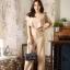 JS0045 เสื้อผ้าแฟชั่น เสื้อผ้าเกาหลี ชุดจั๊มสูท จั๊มสูทขายาว จั๊มสูทกางเกง ชุดออกงาน ชุดทำงาน จั๊มสูทแขนกุด จั้มสูทเปิดไหล่ (ลายจุด) thumbnail 1