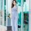 JS0031 เสื้อผ้าแฟชั่น เสื้อผ้าเกาหลี ชุดจั๊มสูท จั๊มสูทขายาว จั๊มสูทกางเกง ชุดออกงาน ชุดทำงาน แขนกุด (สีเทาอมฟ้า) thumbnail 4