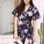 MD0025 เสื้อผ้าแฟชั่นเกาหลี เดรสเกาหลี เดรสยาว เดรสแฟชั่น แม็กซี่เดรส Maxidress ลายดอก Maxi Dress (สีกรม) thumbnail 4