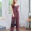 JS0037 เสื้อผ้าแฟชั่น เสื้อผ้าเกาหลี ชุดจั๊มสูท จั๊มสูทขายาว จั๊มสูทกางเกง ชุดออกงาน ชุดทำงาน จั๊มสูทเปิดไหล่ จั๊มสูทปาดไหล่ (สีนู้ด) งานสวยหนักมากกก❗️จั๊มสูทขายาวรุ่นนี้สวยมากเลยค่ะ thumbnail 3