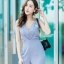 JS0031 เสื้อผ้าแฟชั่น เสื้อผ้าเกาหลี ชุดจั๊มสูท จั๊มสูทขายาว จั๊มสูทกางเกง ชุดออกงาน ชุดทำงาน แขนกุด (สีเทาอมฟ้า) thumbnail 6