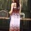 MD0031 เสื้อผ้าแฟชั่นเกาหลี เดรสเกาหลี เดรสยาว เดรสแฟชั่น แม็กซี่เดรส Maxidress ลายดอก Maxi Dress (สีขาว) thumbnail 5