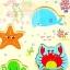 กระดานภาพเเละบล็อคไม้นูน ลายสัตว์ทะเล (เล่นจับคู่ เเละ จิ๊กซอว์) thumbnail 2