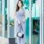 JS0031 เสื้อผ้าแฟชั่น เสื้อผ้าเกาหลี ชุดจั๊มสูท จั๊มสูทขายาว จั๊มสูทกางเกง ชุดออกงาน ชุดทำงาน แขนกุด (สีเทาอมฟ้า) thumbnail 2