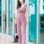 JS0029 เสื้อผ้าแฟชั่น เสื้อผ้าเกาหลี ชุดจั๊มสูท จั๊มสูทขายาว จั๊มสูทกางเกง ชุดออกงาน ชุดทำงาน แขนกุด (สีนู้ด) thumbnail 1