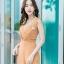 JS0030 เสื้อผ้าแฟชั่น เสื้อผ้าเกาหลี ชุดจั๊มสูท จั๊มสูทขายาว จั๊มสูทกางเกง ชุดออกงาน ชุดทำงาน แขนกุด (สีส้มอิฐ) thumbnail 3