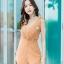 JS0030 เสื้อผ้าแฟชั่น เสื้อผ้าเกาหลี ชุดจั๊มสูท จั๊มสูทขายาว จั๊มสูทกางเกง ชุดออกงาน ชุดทำงาน แขนกุด (สีส้มอิฐ) thumbnail 4