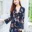 JS0034 เสื้อผ้าแฟชั่น เสื้อผ้าเกาหลี เสื้อผ้าแฟชั่นเกาหลี ชุดจั๊มสูท จั๊มสูทขาสั้น จั๊มสูทกางเกง จั๊มสูทลายดอก ชุดออกงาน ชุดทำงาน (กรม) thumbnail 4