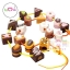 ของเล่นไม้ร้อยเชือกขนมหวาน chocolate งานเนี๊ยบ thumbnail 4