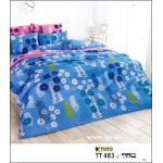 ผ้าปูที่นอนtoto ลายสวย ลายน่ารักน่านอน TT483 สีฟ้า