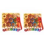 เกมส์คีบผึ้ง เสริมพัฒนาการหยิบจับคีบเเละสายตา 2 ชุด