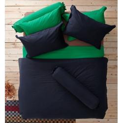 ชุดเครื่องนอน ผ้าปูที่นอน : อิมเพรสชั่น ผ้าสีพื้น : LI - SD -12 สีดำ