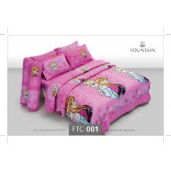 ชุดเครื่องนอน ผ้าปูที่นอน ราคาถูก ลายเจ้าหญิงFTC001
