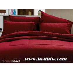 ชุดเครื่องนอน ผ้าปูที่นอน ทิวลิป-ดีไลท์ Tulip Delight สีพื้น พิมพ์ลาย รหัส DL524