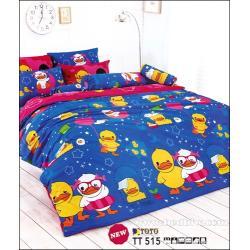 ชุดเครื่องนอน ผ้าปูที่นอนลายเป็ดน่ารัก TT515