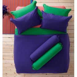 ชุดเครื่องนอน ผ้าปูที่นอน : อิมเพรสชั่น ผ้าสีพื้น : LI - SD -18 สีม่วง