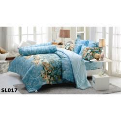 ชุดเครื่องนอน ผ้าปูที่นอน ทิวลิป-พิมพ์ลาย รหัส SL017