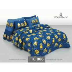 ชุดเครื่องนอน ผ้าปูที่นอนลายมินเนี่ยน FTC006