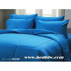 ชุดเครื่องนอน ผ้าปูที่นอน ทิวลิป-ดีไลท์ Tulip Delight สีพื้น พิมพ์ลาย รหัส DL520