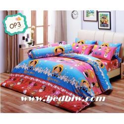 ชุดเครื่องนอน ผ้าปูที่นอน ลายการ์ตูน วันพีช รุ่นOP3