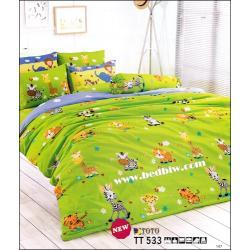 toto ชุดเครื่องนอน ผ้าปูที่นอนลายสวยมาก TT533
