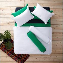 ชุดเครื่องนอน ผ้าปูที่นอน : อิมเพรสชั่น ผ้าสีพื้น : LI - SD - 00 สีขาว