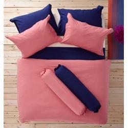 ชุดเครื่องนอน ผ้าปูที่นอน : อิมเพรสชั่น ผ้าสีพื้น : LI - SD -19 สีโอรส