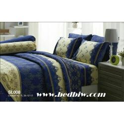 ชุดเครื่องนอน-ผ้าปูที่นอน ทิวลิป SL008