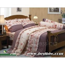 ชุดเครื่องนอน ชุดผ้าปูที่นอนเจสสิก้า ลายดอกไม้ รุ่น J186