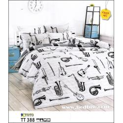 ชุดเครื่องนอนโตโต้ ชุดผ้าปูที่นอนโตโต้ แนวคลาสสิค ลายเครื่องดนตรี TT388