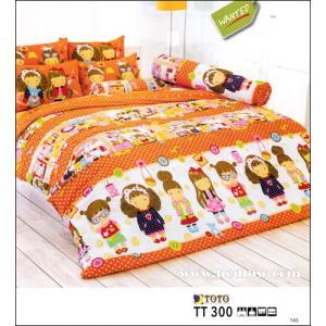 ชุดเครื่องนอนtoto ชุดผ้าปูที่นอนtoto ลายการ์ตูนเด็กผู้หญิงน่ารัก รุ่นTT300