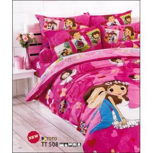 ชุดเครื่องนอน ผ้าปูที่นอน toto ลายแต่งงาน TT508