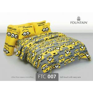 ชุดเครื่องนอน ผ้าปูที่นอน ลายมินเนี่ยน FTC007