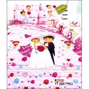 ชุดเครื่องนอน ผ้าปูที่นอนลายแต่งงาน TT264