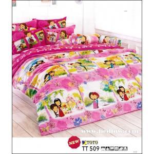 ชุดเครื่องนอน ผ้าปูที่นอนtoto ลายแต่งงาน TT509