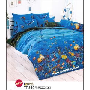 ชุดที่นอน ชุดผ้าปูที่นอน ลายปะการังใต้ทองทะเล TT540