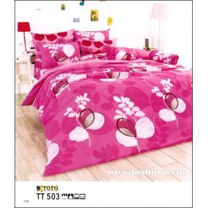 ชฃุดเครื่องนอน ผ้าปูที่นอน toto ลายดอกไม้ ลายสายมาก TT503