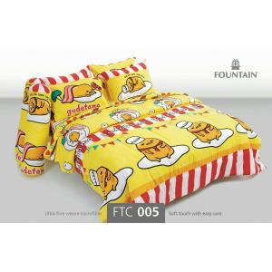 ชุดเครื่องนอน ผ้าปูที่นอนราคาถูก ลายกุเดทามะ FTC005