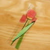 Post it โพสต์อิทเกาหลีลายดอกทิวลิป-สีแดง
