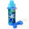 กระติกน้ำสแตนเลสเก็บความร้อน ความเย็น กระติกน้ำสำหรับเด็ก โพลีคาร์ สีฟ้า (หลอด)