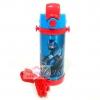 กระติกน้ำสแตนเลสเก็บความร้อน ความเย็น กระติกน้ำสำหรับเด็ก Avengers น้ำเงินคาดเเดง (หลอด)