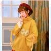 Pre-Order เสื้อกันหนาวไหมพรมคอเต่าสีเหลือง ปักลายไข่ดาวไชโย