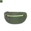 กระเป๋าคาดเอววิ่ง กันน้ำ สีเขียวขี้ม้า Size L มี 3 ซิป เสียบหูฟังได้
