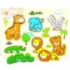 กระดานภาพเเละบล็อคไม้นูน ลายสัตว์ป่า (เล่นจับคู่ เเละ จิ๊กซอว์)
