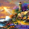 บ้านริมทะเล ภาพติดเพชร ครอสติชคริสตรัล โมเสก Diamond painting