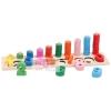 ของเล่นไม้เสริมพัฒนาการ สวมหลัก 10 เเถว + จับคู่ตัวเลข เเละสี