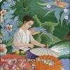ผู้หญิงทำร่ม ชุดปักครอสติช พิมพ์ลาย งานฝีมือ