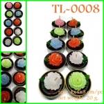 TL-0008 เทียนกุหลาบจิ๋วในถ้วยทีไลท์ แพ็ค 10 pcs